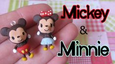Mickey & Minnie Mouse Tutorial: Polymer Clay Charm Pair by LilacSprinkles