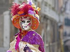 How to Find the Right Halloween Costume ~ This is a photo of a Carnivale costume in Venice. My other ideas aren't this elaborate :-) #Halloween in #october is all about #Halloweencostumes