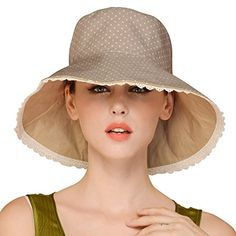 d0eda34550e Erigaray UPF50+ Sun Shade Hats For Womens Summer Outdoor Wide Brim Beach  Hat Foldable. For