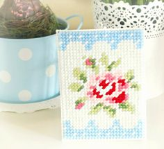 """Gorgeous needlework by Hopscotch Lane using a pattern from Cath Kidston's """"Stitch"""" book."""