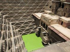 Chand Baori – India  3500 narrow steps extending 100 feet into the ground making it one of the deepest stepwells in India.