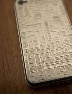 Very flashy iPhone case etched with London landmarks