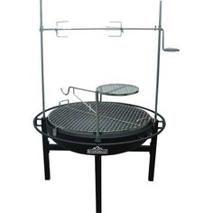RiverGrille Grills Cowboy 31 in. Charcoal Grill and Fire Pit Black GR1038-014612