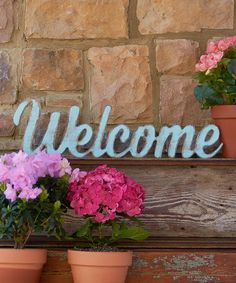 Look at this #zulilyfind! Unfinished 'Welcome' Wall Décor #zulilyfinds