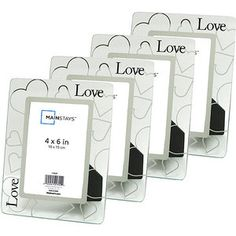 Glass Love 4'' x 6'' Picture Frames, Set of 4 walmart $16