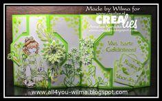 https://www.crealies.nl/detail/1581431/16-07-01-wilma.htm & http://crealies.blogspot.nl/2016/07/sugar-sweet-crealies-create-card-no-24.html Crealies items: Crealies Create A Card no.24 Masks & More no.23 Masks & More no.27 Uno no.35  Set of 3 no.35 Set of 3 no.36 Partz no.13 Partz no.14 Double Fun no.23 Decorette no.15 Aparto no.4 Duo Dies no.31 Duo Dies no.31A Duo Dies no.34 Duo Dies no.34A Tekststans no.1 Tekststans no.13 Tekststans no.16 Tekststans no.20