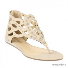 Femme NU PIED PLAT SYNTHE - Femme Tongs