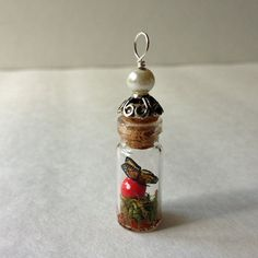monarch miniature wonderland terrarium bottle by beadingmom