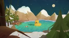 1 week project_ rubber duck   01 Low poly   - personal  work  tool: C4d