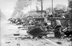 Transport vehicles knocked out by Michael Wittmann