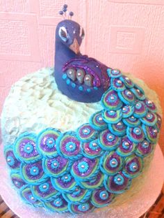 Peacock Cake - Peacock cake for a 60th birthday