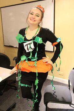 Halloween Party 2012: ITA Intern, Mercedes, as Pumpkin Pie... get it? Pi?