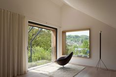Gallery of Kirchplatz Office + Residence / Oppenheim Architecture + Design - 24 Architecture Design, Contemporary Architecture, Contemporary Design, Minimalist Architecture, Design 24, House Design, Design Ideas, Design Competitions, Windows And Doors