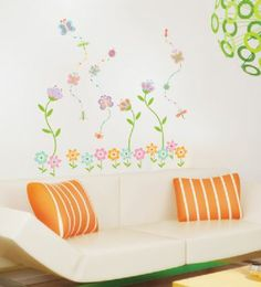 Enchanted Floral Garden Wall Stickers