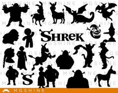 Wizard of Oz SVG for Cricut, Silhouette - Wizard of Oz silhouette - Wizard of Oz png clipart - Wizard of Oz dxf vector files - Fiona Y Shrek, Volleyball Locker Decorations, Fantasy Party, Silhouette Art, Vinyl Cutting, Cricut Vinyl, Wizard Of Oz, Vector File, Disney Art