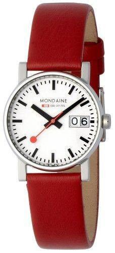 Mondaine Watch Evo Big Date #bezel-fixed #bracelet-strap-leather #brand-mondaine #case-material-steel #case-width-30mm #clasp-type-tang-buckle #classic #date-yes #delivery-timescale-4-7-days #dial-colour-white #gender-ladies #movement-quartz-battery #official-stockist-for-mondaine-watches #packaging-mondaine-watch-packaging #subcat-evo #supplier-model-no-a669-30305-11sbc #warranty-mondaine-official-2-year-guarantee #water-resistant-30m
