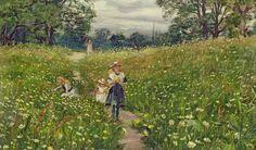 """Gathering Wild Flowers"" by Philip Richard Morris"