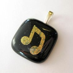 Dichroic Glass Slide Pendant  A Song for You  3348 by mysassyglass, $22.00