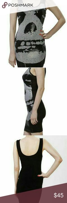 NWT iron first misfits sequin tank dress Authentic Iron Fist Misfits Sequin Tank Dress Size: medium Brand new with tags bodycon dress featuring a sequin front with large sequin  with Crimson Ghost skull. With a solid black backing and short.  95% Cotton, 5% Elastane Iron Fist Dresses Mini