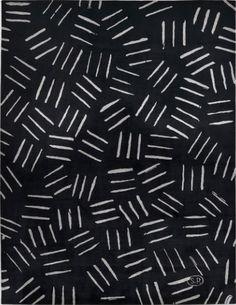 Scattered Blocks - black & white line pattern // Serge Poliakoff