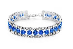 Chic Micro Pave Cubic Zirconia 925 Sterling Silver Tennis Bracelet, with Mazarine AAA Zircons, Silver// Find More Fashion Jewelry and Be Beautiful from http://www.sweetiee.com/
