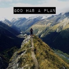 God has a plan!! Take comfort in that! Every obstacle, every success every failure, every win....it's all working towards the greater food of an amazing #journey that He has set out for you! Keep moving forward with faith that your God is bigger than any problem you will face.