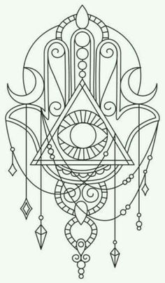 HAMSA / ‎‫خمسة‬‎‎ / ‫חַמְסָה‬‎‎ / AMULET / KHAMSAH / HAND OF FATIMA / TATTOOSMore Pins Like This At FOSTERGINGER @ Pinterest: