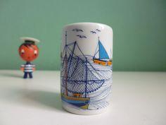 Ahoi⚓ Vintage mini Vase maritim Porzellan 50er von ILoveSparrows auf DaWanda.com