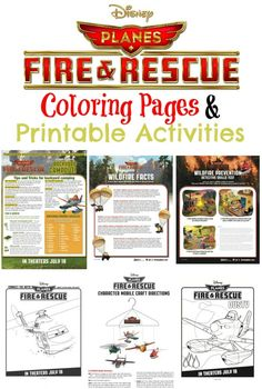 Disney Planes: Fire & Rescue Coloring Pages & Printable Activities - Eclectic Momsense