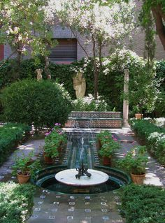 Courtyard Garden in Madrid, Spain