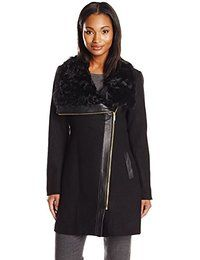 Badgley Mischka Women's Willow Wool-Blend Coat with Leather and Shearling Trim $431.19Prime 4 out of 5 stars 4