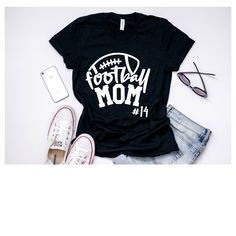 Football Mom Shirt Game Day Shirt - Vinyl Shirt - Ideas of Vinyl Shirt - Sports Mom Shirts, Football Mom Shirts, T Shirts For Women, Wolfpack Football, Football Moms, Football Gift, Personalized Football, Youth Football, Vinyl Shirts