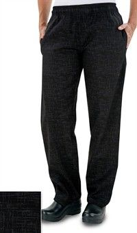Women's Chef Pant - Crosshatch Black Style # 5601CHB #chefuniforms #womensclothing #womenschefwear #chef #chefpant #pant #black #crosshatch