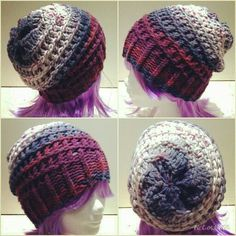 Loomknitting hat, made by Juul