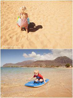 Toddler friendly beach with playground and bathrooms (sometimes sea turtles too) ~ Pokai Bay Beach Park
