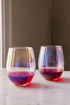 These luster wine glasses are absolutely meant to be filled with your favorite Halloween potion.