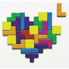 Magnet TETRIS : magnet insolite en forme des briques du jeu vidéo TETRIS