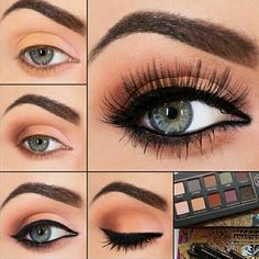 Peach copper makeup tutorial