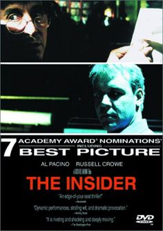 """My favorite movie of all time. It makes """"smart"""" sexy and even manly.     Yes, it's even above Godfather--but not far above.     Michael Mann """"The Insider"""""""
