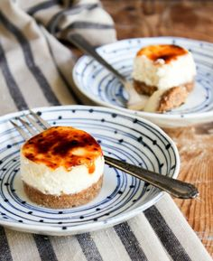 Mini Cheesecake Brûlée #desserts #dessertrecipes #yummy #delicious #food #sweet