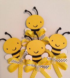 Baby Shower Bumble Bee Guest Corsage by designsbyemilys on Etsy, $25.99