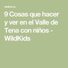 9 Cosas que hacer y ver en el Valle de Tena con niños - WildKids