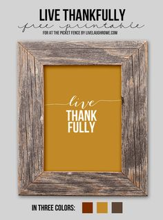 At The Picket Fence blog post Free Thanksgiving Printable … http://www.atthepicketfence.com/2014/11/free-thanksgiving-printable.html via bHome https://bhome.us