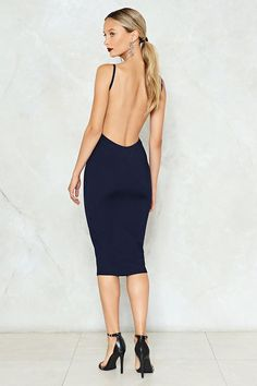 Put Your Back into It Bodycon Dress