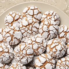 Bake This Martha Stewart Cookie With What's Already in Your Pantry (Williams-Sonoma Taste) Holiday Cookie Recipes, Holiday Desserts, Holiday Cookies, Sweet Desserts, Holiday Treats, Christmas Recipes, Candy Cane Cookies, Crinkle Cookies, Bar Cookies