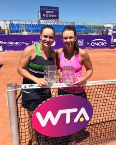 Aussies Sweep Strasbourg Crowns In Singles & Doubles     Casey Dellacqua: Winners are grinners  #strasbourg #doubletrouble #bestweek   #yay Ashley Barty