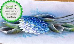 Pintura de hortênsias em tecido molhado - Luis Moreira