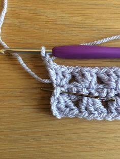 Rectangle Granny | The Crochet Swirl Crochet Throw Pattern, Striped Crochet Blanket, Granny Pattern, Crochet Square Patterns, Granny Square Crochet Pattern, Crochet Stitches, Quick Crochet, Crochet Instructions, Slip Stitch