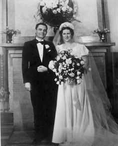Ed and Mercy Carl on their wedding day May 18, 1940.