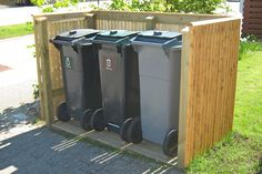 You likely pack your trash into the trash can and then ignore it up until trash day. But exactly what takes place when you have a concern with your trash bin? Read Best Trash Can Ideas You've to Know Trash Can Storage Outdoor, Garbage Can Storage, Outdoor Trash Cans, Storage Bins, Hide Trash Cans, Trash Bins, Backyard Patio, Backyard Landscaping, Trash Can Covers